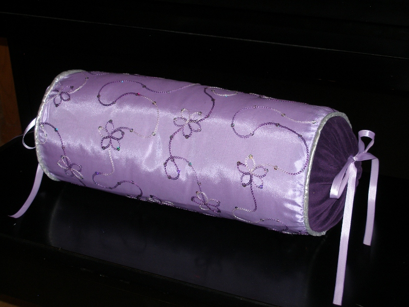 Purple bolster pillow just sew stories Sew bolster pillow cover